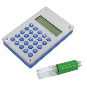 """Калькулятор """"Aqua"""" на энергии воды, цвет синий, белый"""