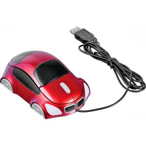 """Мышь компьютерная оптическая """"Автомобиль"""", цвет красный"""