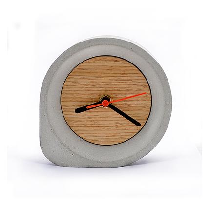 """Настольные часы """"Строитель"""" с 2 магнитами. Бетон"""