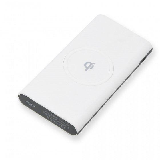Внешний аккумулятор, Imperio с беспроводной зарядкой, 10000 mAh, в подарочной упаковке, белый