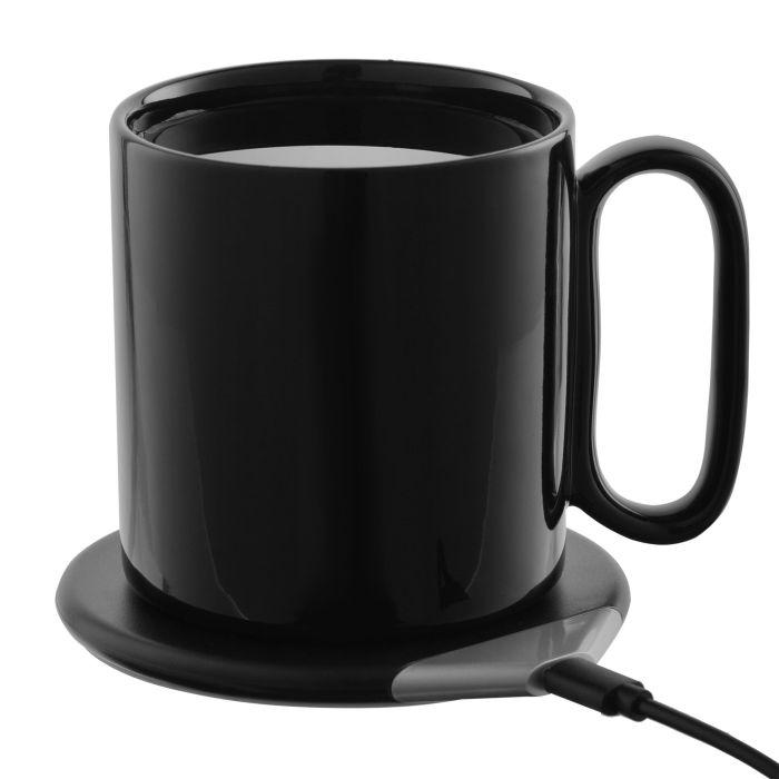 Кружка с подогревом и беспроводной зарядкой Dual Base, черная