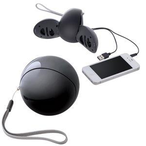 Портативные аудио колонки для смартфона, цвет черный