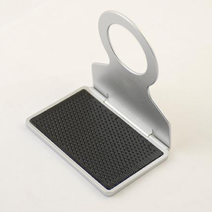 Подставка для сотового телефона с держателем для подвешивания, цвет серебряный