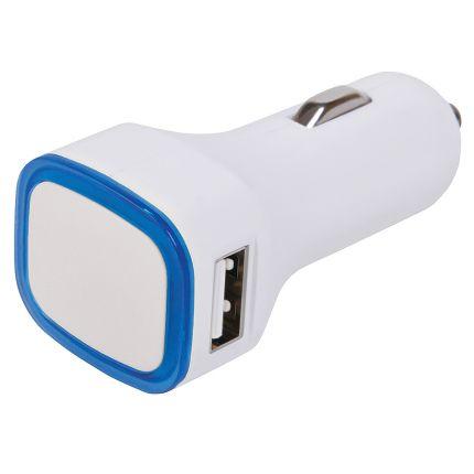 """Автомобильное зарядное устройство с подсветкой и двумя USB-портами """"Mobicar"""""""