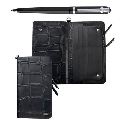 Подарочный набор Ungaro: трэвел-портмоне, ручка шариковая