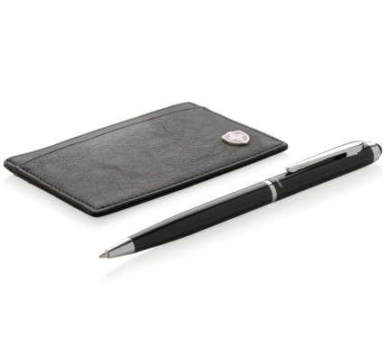 Набор Swiss Peak: бумажник с защитой от сканирования RFID и шариковая ручка, цвет чёрный