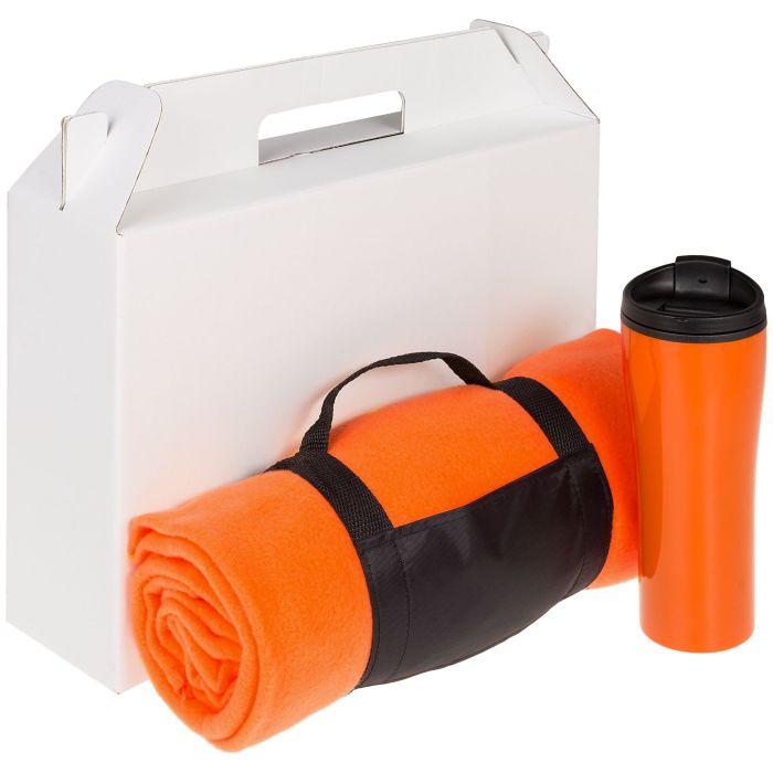Набор Selfhood: термостакан (450 мл) и плед  (127х152 см), оранжевый