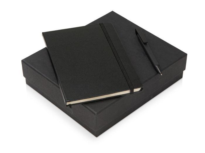 """Подарочный набор """"Jacque"""" с ручкой-подставкой и блокнотом А5, цвет чёрный"""