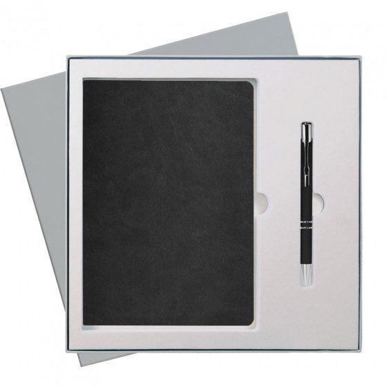 Подарочный набор Portobello Latte: ежедневник недатированный А5 и ручка, чёрный