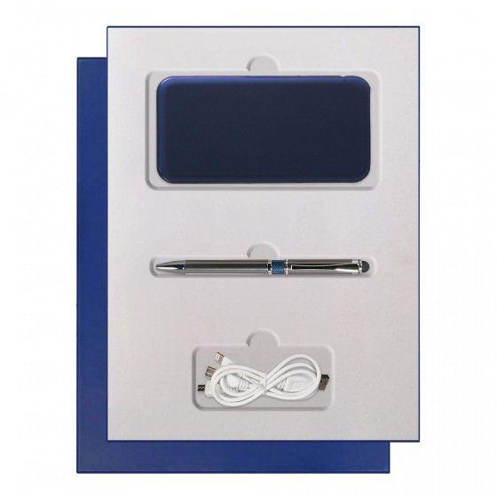 Подарочный набор Portobello Grand: Power Bank и ручка, синий