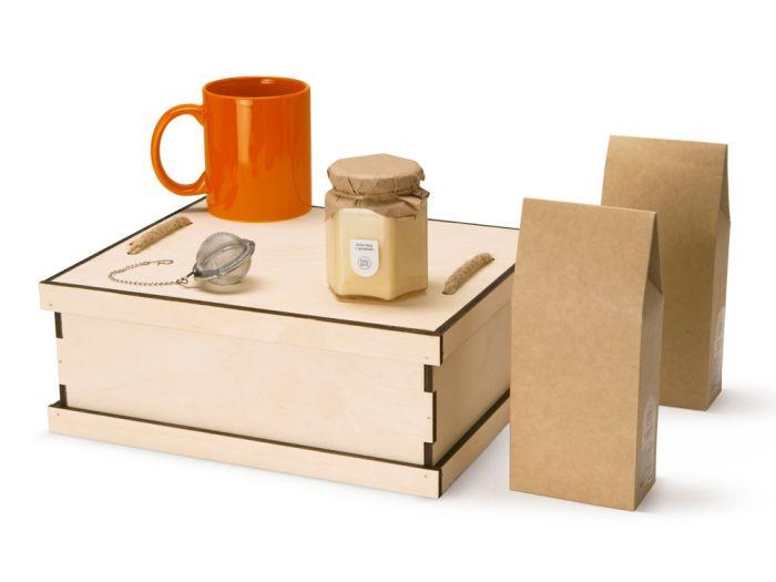 Подарочный набор Tea Duo Deluxe, цвет коричневый с оранжевым