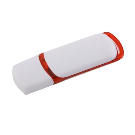 """USB-Flash накопитель (флешка) """"COLIBRI"""" из пластика с цветными вставками, 4 Gb, красный"""