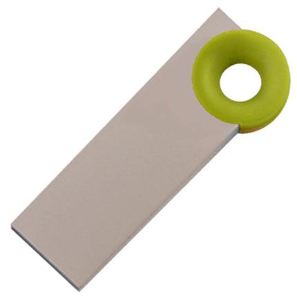 """Мini USB-Flash накопитель """"Ring"""" в металлическом корпусе с пластиковым цветным кольцом, 4 Gb, зеленый"""