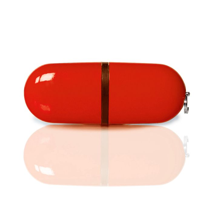 USB-Flash накопитель флешка-капсула, модель PL004, объём памяти  4Gb, цвет красный