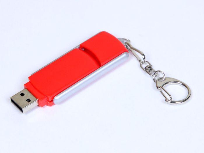 Флешка промо прямоугольной формы. 4 Гб. Красный, USB2.0