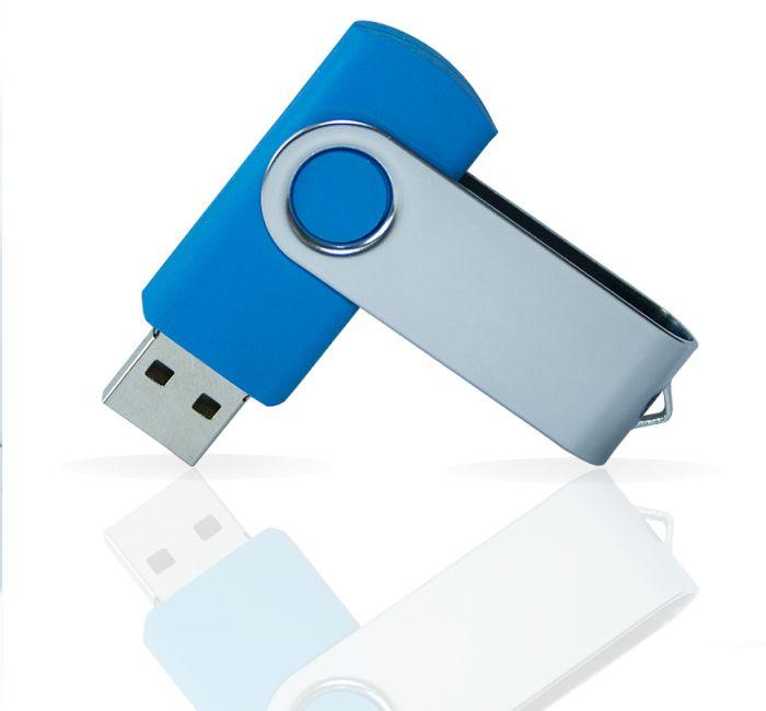 Флешка PVC001 (синий 7689 c) с чипом 4 гб