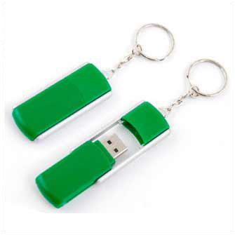 """USB-Flash накопитель - брелок (флешка) """"TWIST"""" раздвижной с кольцом для ключей,  8 Gb. Зелёный"""