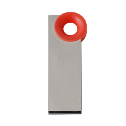 """Мini USB-Flash накопитель """"Ring"""" в металлическом корпусе с пластиковым цветным кольцом, 8 Gb, красный"""