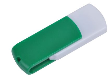 "USB flash-карта ""Easy"" ( 8 Gb), цвет белый/зелёный"