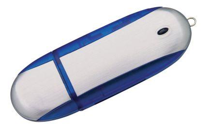 Флешка Ergonomic, синяя, 8 Гб