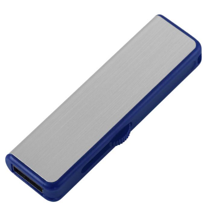 Флешка Ferrum, 8 Гб, серебристая с синим
