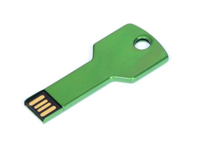 Флеш-накопитель в виде ключа 8 Гб. Зелёный, USB2.0