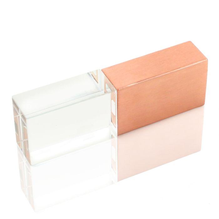 Флешка ST016 (8 гб) с оранжевой подсветкой