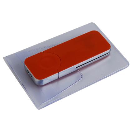 """USB-Flash накопитель (флешка) """"BIG"""", 16 Gb, с красной подсветкой. Красный"""