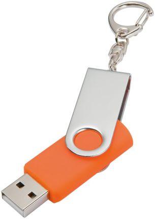 Флешка-брелок Twist, 16 Гб, с покрытием SOFT TOUCH, оранжевая