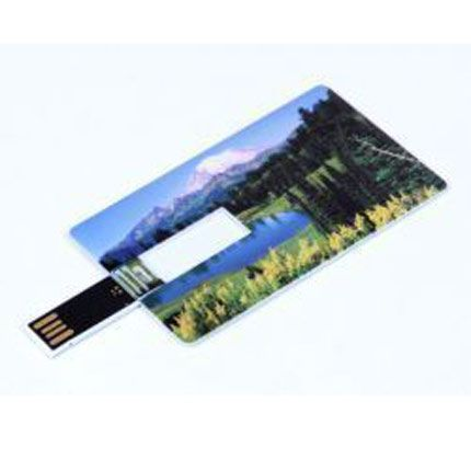 USB-Flash накопитель (флешка) в виде кредитной карты, модель card1, объем памяти 16 Gb