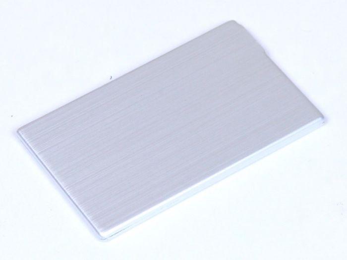 Флешка в виде металлической карты 16Гб, цвет Серебряный, USB2.0