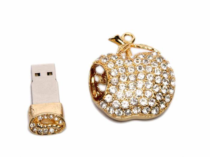 Флешка - APPLE, 16 Гб. Золотой, USB2.0