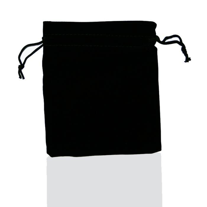 Мешочек бархатный U-PK002, чёрный, 9,5х11,5