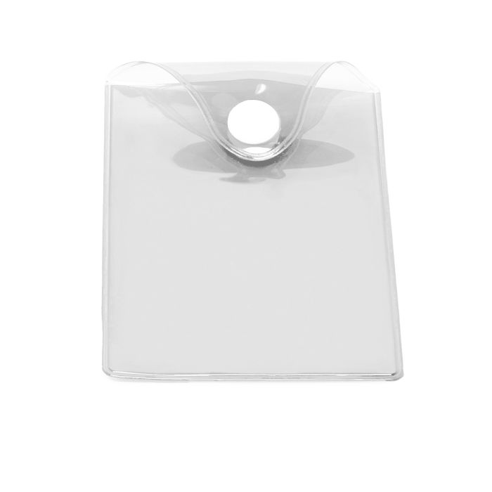 Карман пластиковый прозрачный с кнопкой U-PK003, белый