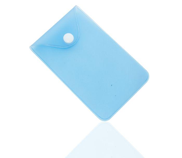 Карман пластиковый прозрачный с кнопкой U-PK003, синий