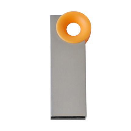 """Мini USB-Flash накопитель """"Ring"""" в металлическом корпусе с пластиковым цветным кольцом, 32 Gb, оранжевый"""