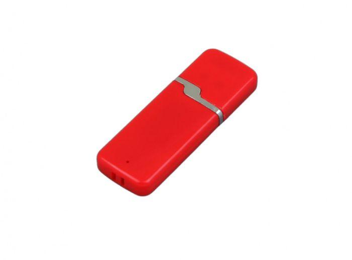 USB-Flash накопитель (флешка) промо прямоугольной формы c оригинальным колпачком, модель 004, объем памяти 32 Gb, цвет красный