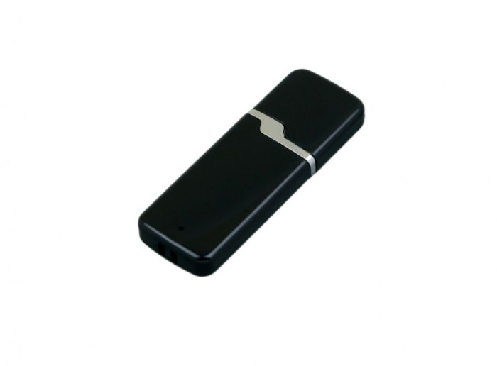 USB-Flash накопитель (флешка) промо прямоугольной формы c оригинальным колпачком, модель 004, объем памяти 32 Gb, цвет чёрный
