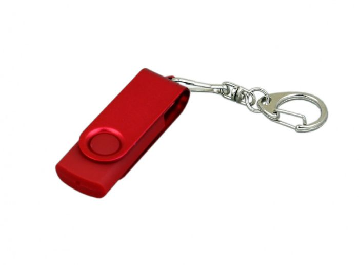 Флешка промо поворотный механизм , модель 031,  объем памяти 32 Гб. Цвет красный, USB2.0