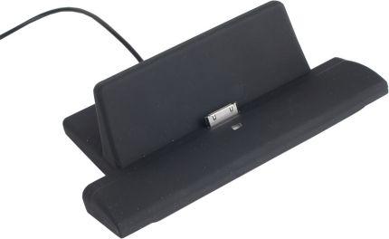 Зарядное устройство для iPad, iPhone, iPod с функцией подставки, работающее от USB, цвет черный