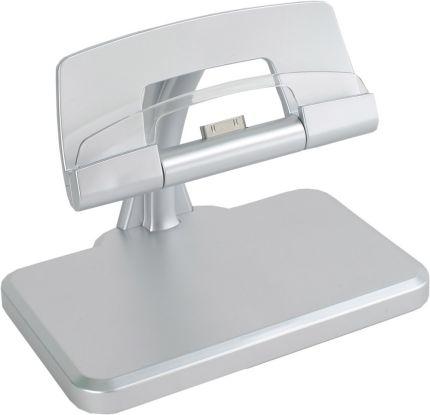 Зарядное устройство для iPad, iPhone с функцией подставки и подсветкой, работающее от USB, цвет белый