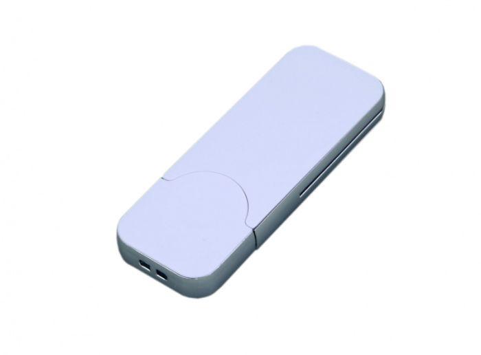 USB-Flash накопитель (флешка) в стиле I-phone, модель I-phone_style, прямоугольной формы, объем памяти 64 Gb, цвет белый