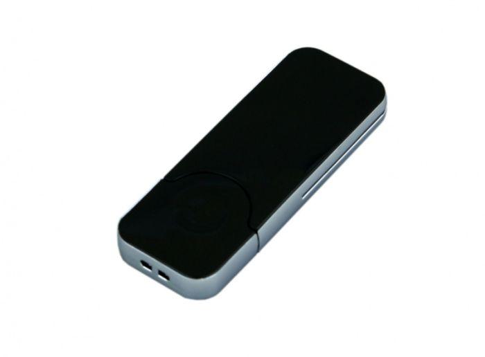 USB-Flash накопитель (флешка) в стиле I-phone, модель I-phone_style, прямоугольной формы, объем памяти 64 Gb, цвет чёрный