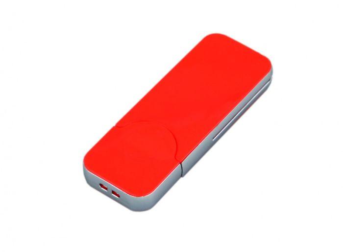 USB-Flash накопитель (флешка) в стиле I-phone, модель I-phone_style, прямоугольной формы, объем памяти 64 Gb, цвет красный