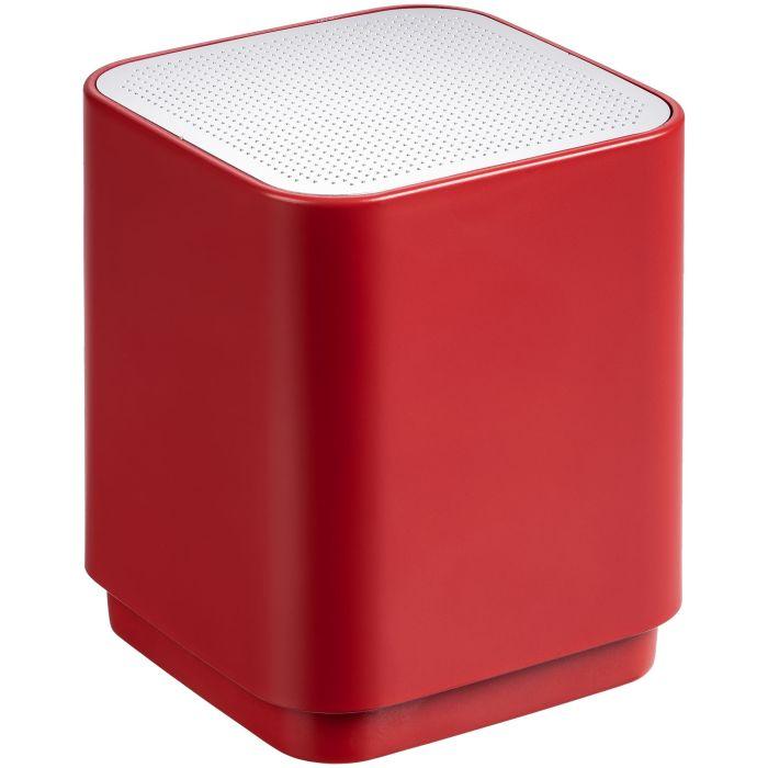 Беспроводная колонка с подсветкой логотипа Glim, цвет красный