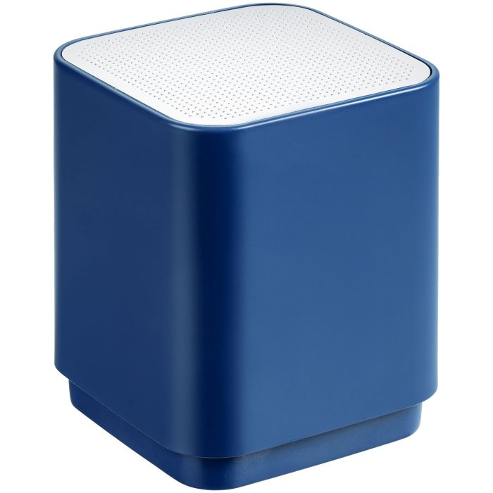 Беспроводная колонка с подсветкой логотипа Glim, цвет синий