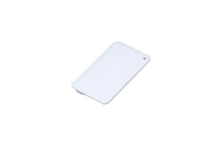 Флеш-накопитель в виде пластиковой карты, 32 Гб. Цвет белый, USB2.0