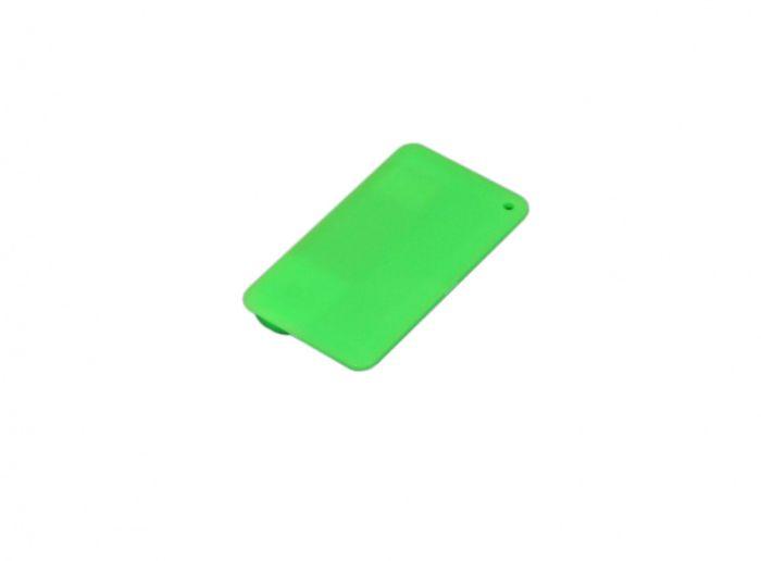 Флеш-накопитель в виде пластиковой карты,  32 Гб. Цвет зелёный, USB2.0