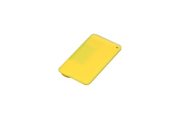Флеш-накопитель в виде пластиковой карты, 32 Гб. Цвет жёлтый, USB2.0