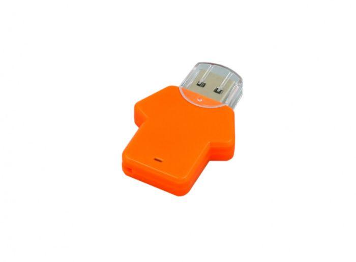 USB-Flash накопитель (флешка)  из пластика, модель Football_man, объем памяти 128 Gb, цвет оранжевый